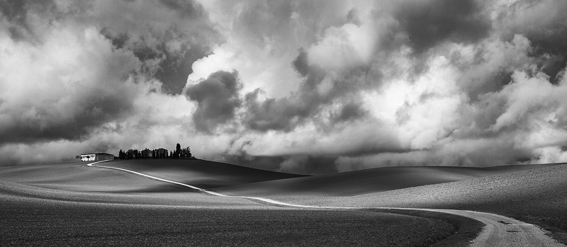 Storm Brewing over Tuscany Hills