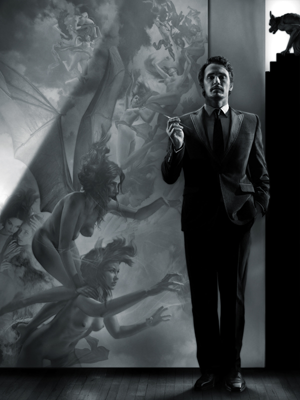 James Franco with Nemesis and the Erinyes