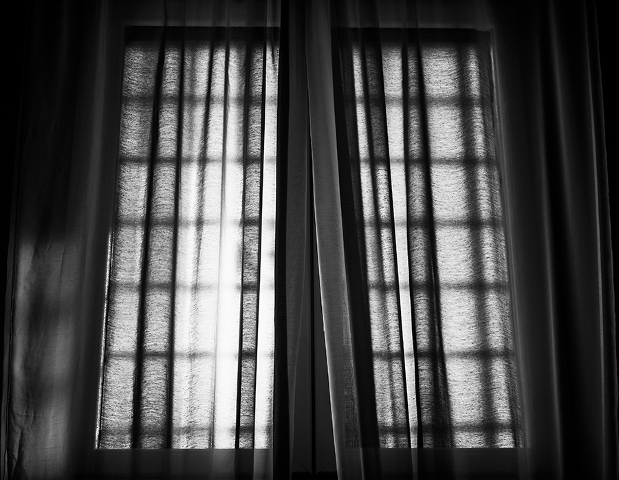 Window in black and white