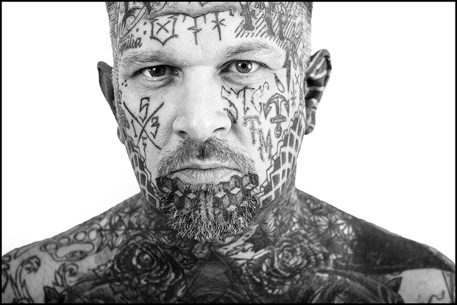 Michael Edward Fathers - Tattooed Face