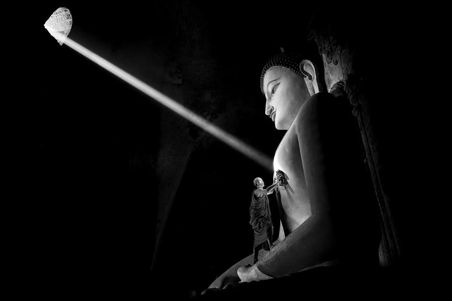Cleaning the Buddha
