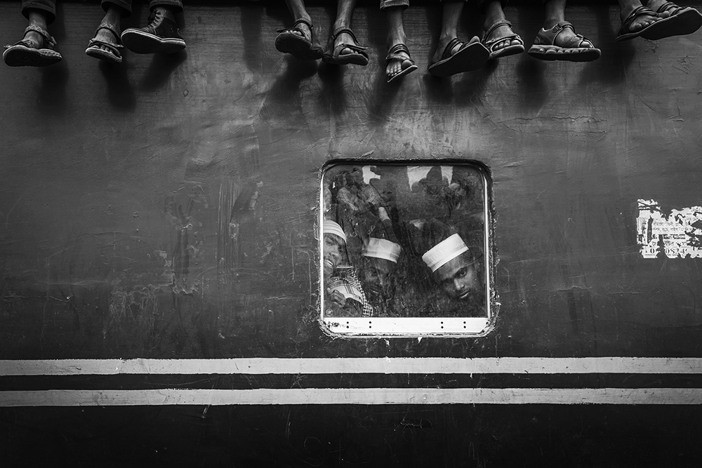 people on train