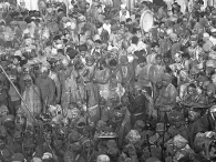 Crowds during the festival of Holi