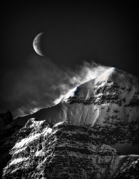 Moon and Blowing Snow