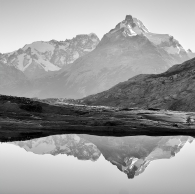 Reflective Patagonian Mountains