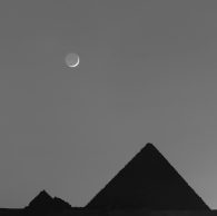 The moon and the pyramids